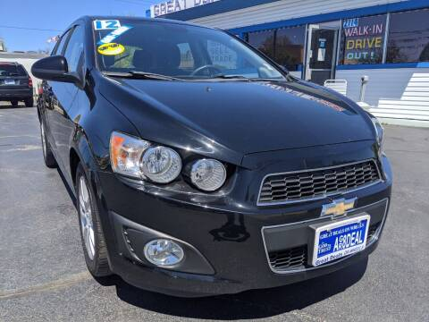 2012 Chevrolet Sonic for sale at GREAT DEALS ON WHEELS in Michigan City IN