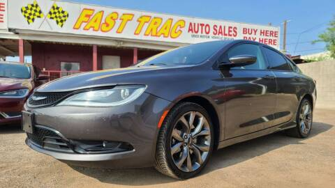 2015 Chrysler 200 for sale at Fast Trac Auto Sales in Phoenix AZ