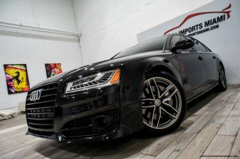 2017 Audi A8 L for sale at AUTO IMPORTS MIAMI in Fort Lauderdale FL