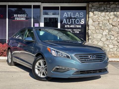 2015 Hyundai Sonata for sale at ATLAS AUTOS in Marietta GA