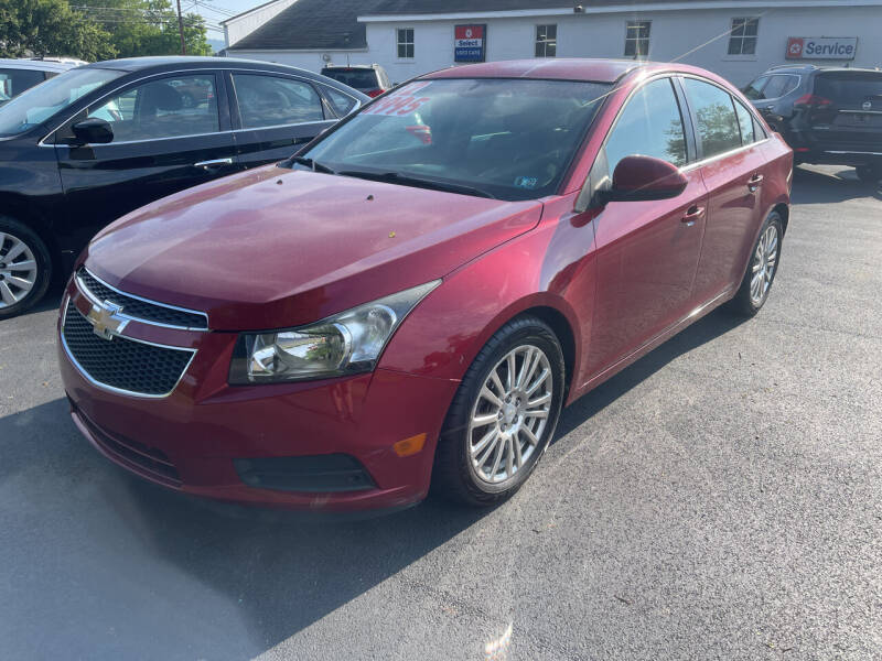 2012 Chevrolet Cruze for sale at Chilson-Wilcox Inc Lawrenceville in Lawrenceville PA