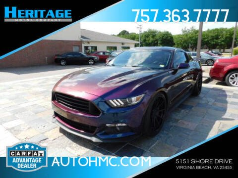 2015 Ford Mustang for sale at Heritage Motor Company in Virginia Beach VA
