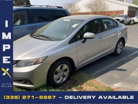 2014 Honda Civic for sale at Impex Auto Sales in Greensboro NC