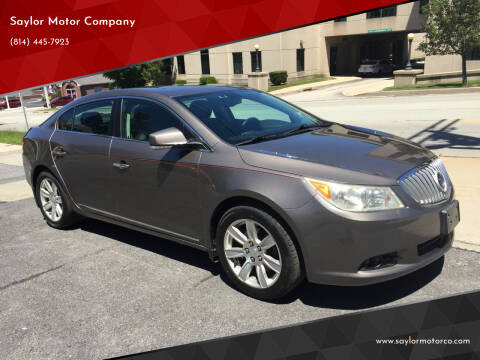 2010 Buick LaCrosse for sale at Saylor Motor Company in Somerset PA