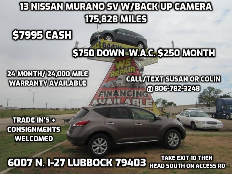2013 Nissan Murano for sale at West Texas Consignment in Lubbock TX