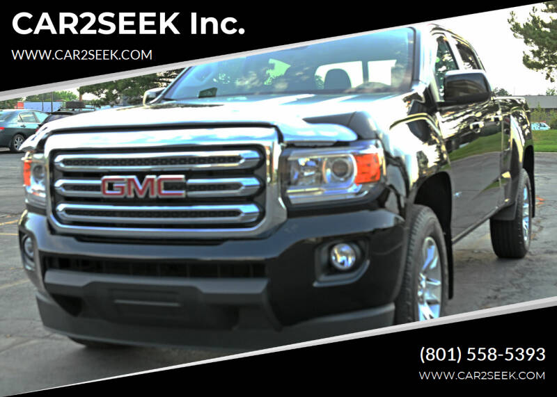 2018 GMC Canyon for sale at CAR2SEEK Inc. in Salt Lake City UT