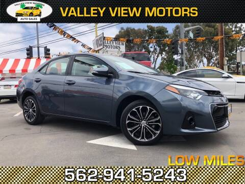 2016 Toyota Corolla for sale at Valley View Motors in Whittier CA