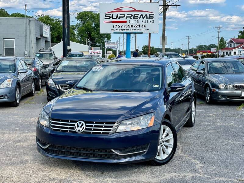 2012 Volkswagen Passat for sale at Supreme Auto Sales in Chesapeake VA