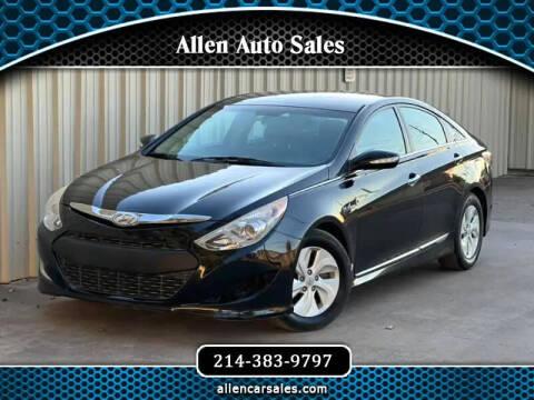 2013 Hyundai Sonata Hybrid for sale at Allen Auto Sales in Dallas TX