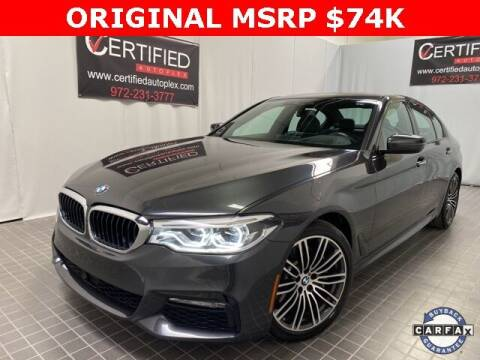 2018 BMW 5 Series for sale at CERTIFIED AUTOPLEX INC in Dallas TX
