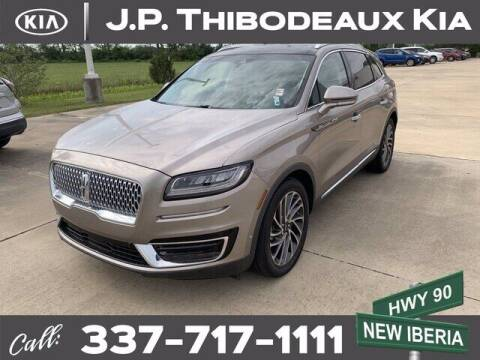 2019 Lincoln Nautilus for sale at J P Thibodeaux Used Cars in New Iberia LA