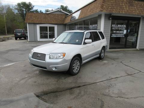 2007 Subaru Forester for sale at Millbrook Auto Sales in Duxbury MA