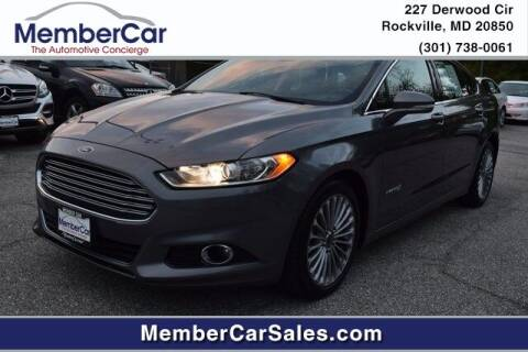 2014 Ford Fusion Hybrid for sale at MemberCar in Rockville MD