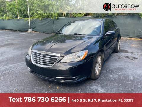 2012 Chrysler 200 for sale at AUTOSHOW SALES & SERVICE in Plantation FL