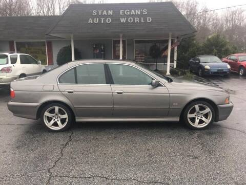 2002 BMW 5 Series for sale at STAN EGAN'S AUTO WORLD, INC. in Greer SC