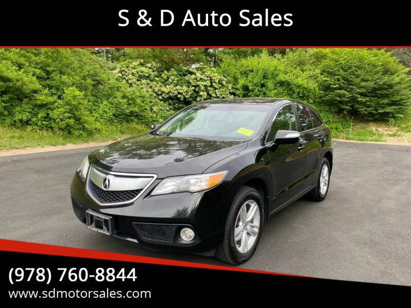 2013 Acura RDX for sale at S & D Auto Sales in Maynard MA