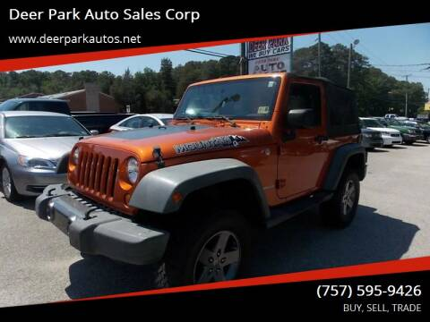 2010 Jeep Wrangler for sale at Deer Park Auto Sales Corp in Newport News VA