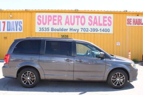 2017 Dodge Grand Caravan for sale at Super Auto Sales in Las Vegas NV