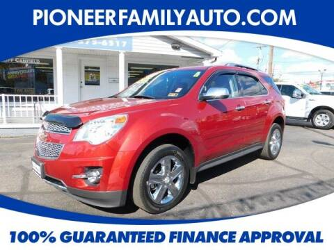 2015 Chevrolet Equinox for sale at Pioneer Family auto in Marietta OH