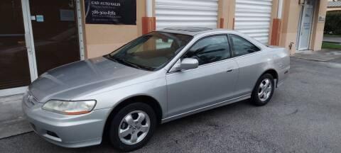 2002 Honda Accord for sale at Cad Auto Sales Inc in Miami FL