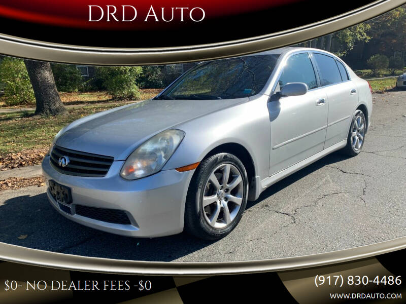 2006 Infiniti G35 for sale at DRD Auto in Flushing NY
