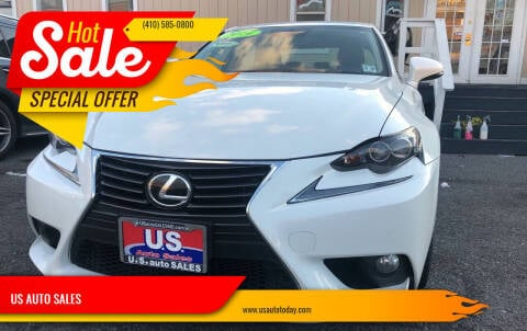 2014 Lexus IS 350 for sale at US AUTO SALES in Baltimore MD