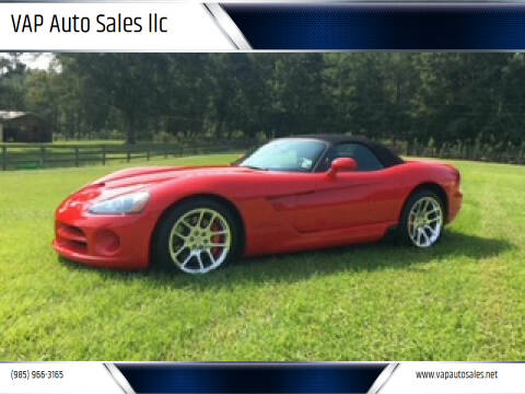 2004 Dodge Viper for sale at VAP Auto Sales llc in Franklinton LA