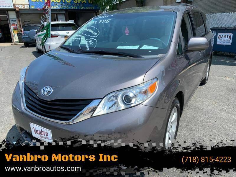 2011 Toyota Sienna for sale at Vanbro Motors Inc in Staten Island NY