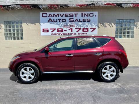 2006 Nissan Murano for sale at Camvest Inc. Auto Sales in Depew NY