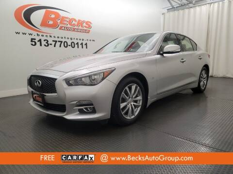 2015 Infiniti Q50 for sale at Becks Auto Group in Mason OH