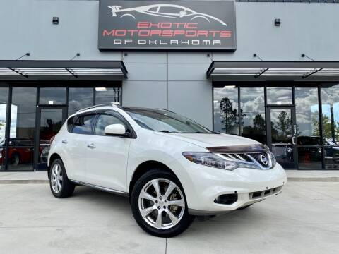 2012 Nissan Murano for sale at Exotic Motorsports of Oklahoma in Edmond OK
