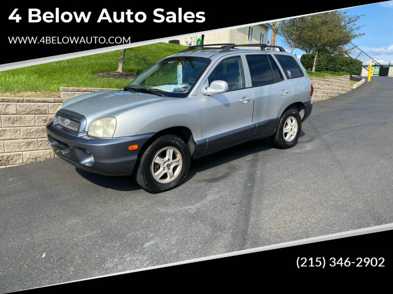 2003 Hyundai Santa Fe for sale at 4 Below Auto Sales in Willow Grove PA