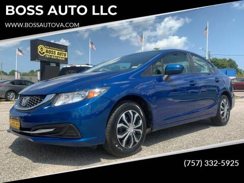 2015 Honda Civic for sale at BOSS AUTO LLC in Norfolk VA