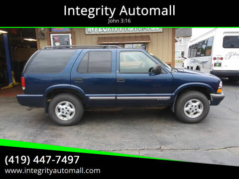 2000 Chevrolet Blazer for sale at Integrity Automall in Tiffin OH