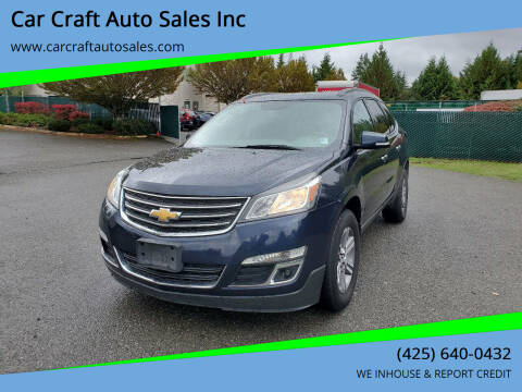 2016 Chevrolet Traverse for sale at Car Craft Auto Sales Inc in Lynnwood WA