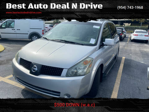 2005 Nissan Quest for sale at Best Auto Deal N Drive in Hollywood FL