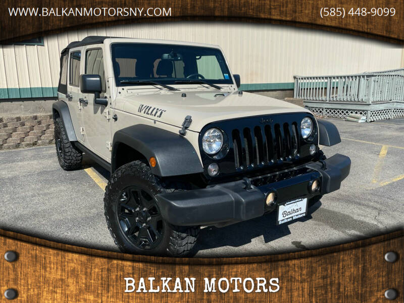 2016 Jeep Wrangler Unlimited for sale at BALKAN MOTORS in East Rochester NY