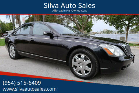 2005 Maybach 57 for sale at Silva Auto Sales in Pompano Beach FL