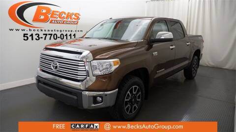 2016 Toyota Tundra for sale at Becks Auto Group in Mason OH