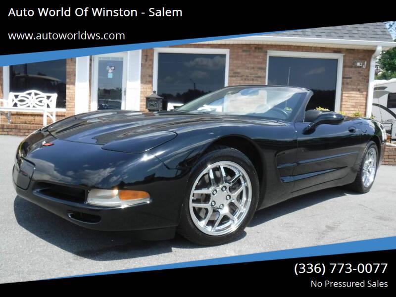 2004 Chevrolet Corvette for sale at Auto World Of Winston - Salem in Winston Salem NC