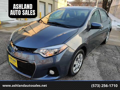 2015 Toyota Corolla for sale at ASHLAND AUTO SALES in Columbia MO