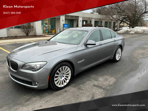 2012 BMW 7 Series for sale at Klean Motorsports in Skokie IL