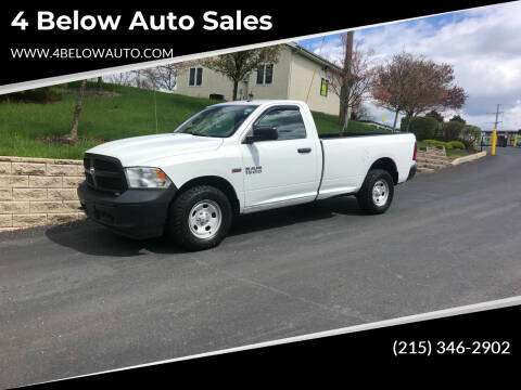 2013 RAM Ram Pickup 1500 for sale at 4 Below Auto Sales in Willow Grove PA