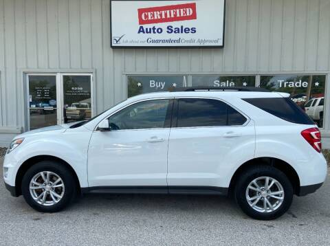2016 Chevrolet Equinox for sale at Certified Auto Sales in Des Moines IA