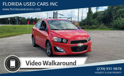 2015 Chevrolet Sonic for sale at FLORIDA USED CARS INC in Fort Myers FL