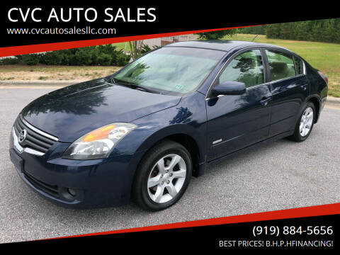 2007 Nissan Altima Hybrid for sale at CVC AUTO SALES in Durham NC