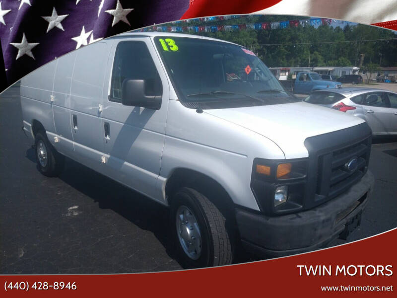 2013 Ford E-Series Cargo for sale at TWIN MOTORS in Madison OH