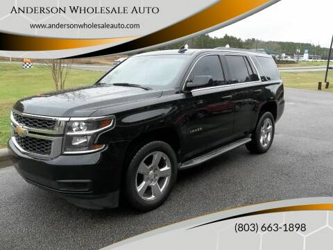 2015 Chevrolet Tahoe for sale at Anderson Wholesale Auto in Warrenville SC