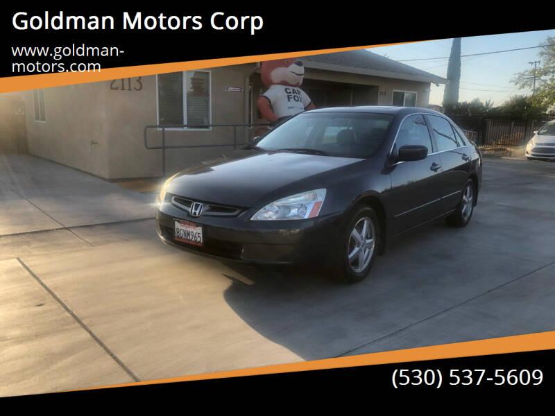 2004 Honda Accord for sale at Goldman Motors Corp in Stockton CA