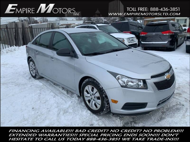 2013 Chevrolet Cruze for sale at Empire Motors LTD in Cleveland OH